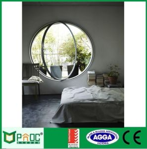 Finestra rotonda di profilo di alluminio di stile dell'Europa del materiale da costruzione
