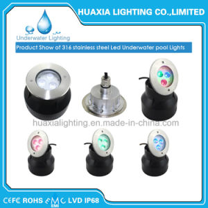 316 ss 12V 9W IP68 Водонепроницаемый светодиодный встраиваемый светильник акцентного освещения подводного освещения