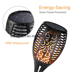 太陽庭の炎のトーチライト明滅の蝋燭IP65は芝生のパスのための装飾的なランプを防水する