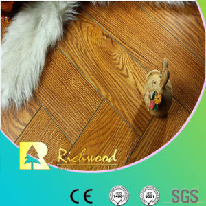 Relieve 8.3mm comercial Hickory filo encerado piso laminado