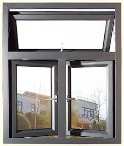 2018 la moda de aluminio color madera ventana de colgado for Ventanas de aluminio color madera precios