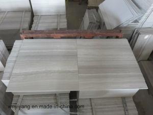 Het witte/Grijze Houten Marmer van de Korrel voor Plak of Countertop