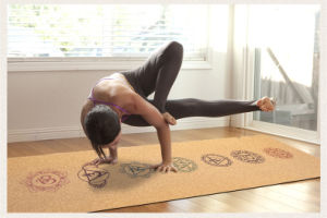 Antideslizante de Caucho Natural Cork estera del yoga para el Profesional de Fitness Men's