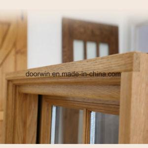 アメリカのFoldable不安定なハンドルのアルミニウム覆われた固体カシ木Windows