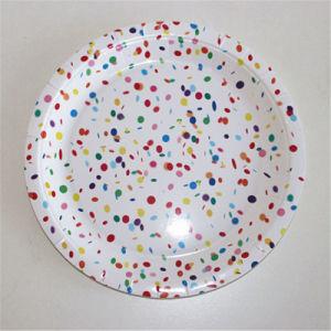 Les articles de décoration colorée de gros Les assiettes de papier