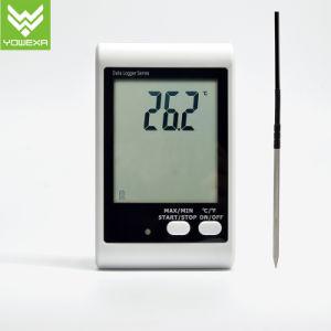 Registratore automatico di dati sano e chiaro di temperatura dell'allarme con la sonda esterna, visualizzazione dell'affissione a cristalli liquidi