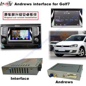 VW Golf7 Car Video Interface (입력되는 2AV + 입력되는 android+Bluetooth+Mirror Link + Front 또는 후방 사진기)
