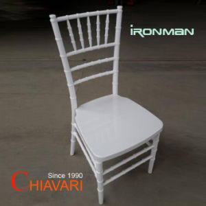 Hotel Fuerte apilable moderno exterior claro de resina plástica silla Chiavari