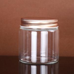 Hoge Boronsilicon om de Kruik van de Container van het Voedsel van het Glas van het Type met de Deksels van het Metaal