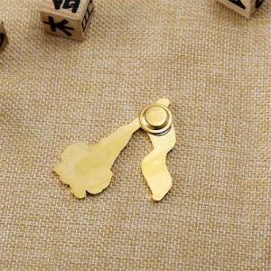 La Insignia de Oro personalizado emblema con el respaldo de la tarjeta de papel