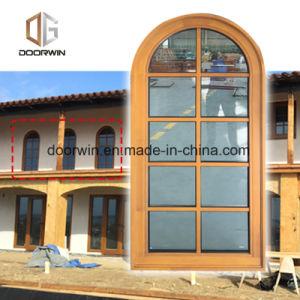 Arcos de madera maciza de madera maciza de diseño de la ventana