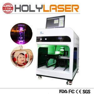 水晶Keychainおよびガラス写真のための3Dレーザーの彫版機械