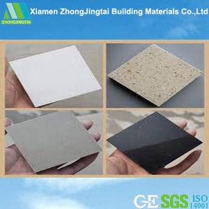 Engenharia artificial branco pedra de quartzo, bancadas de pedra cor de Mármore Artificial
