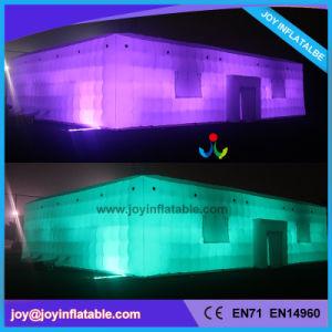 Parte do evento no exterior cúbico insuflável tenda com luz de LED (tenda2-055)