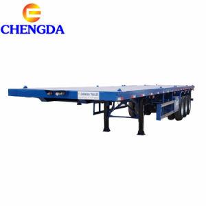 Eje 4 de 3 ejes contenedor de superficie plana de 40 toneladas de chasis remolque semi remolque de 40 pies