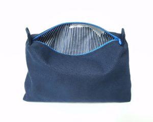 Grand sac de maquillage en néoprène sac cosmétique avec fermeture à glissière