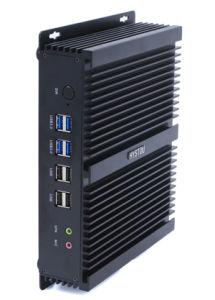 Sin ventilador de pared Mini PC Industrial Celeron 2955U SFF PC Embedded Ipc 2 HDMI 2 LAN 6 RS232