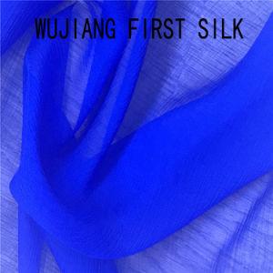 35%65%coton soie plissé Tissu avec de l'impression