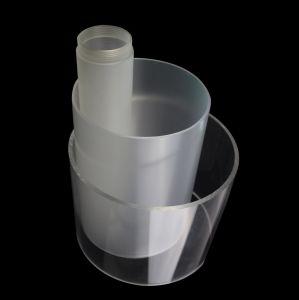 Tuyaux en plastique acrylique claire de grand diamètre du tube en acrylique moulé
