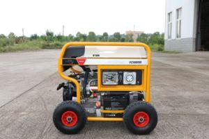 RCDおよび4つのXの空気の大きい車輪(FC8000SE)が付いている発電機7500ワットのガソリン