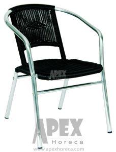 Mobiliário de exterior em alumínio Cadeira de café de vime cadeira (como1013AR)
