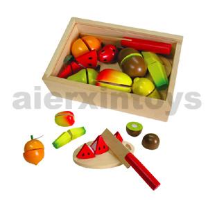 Les fruits de coupe de bois jouet (80207)