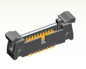 1.27mm Trava Reta Conector PCB da plataforma do conector da plataforma do Extrator