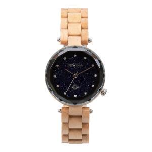 Bewell saludable artesanales de madera de arce Movimiento de cuarzo Reloj analógico de Japón