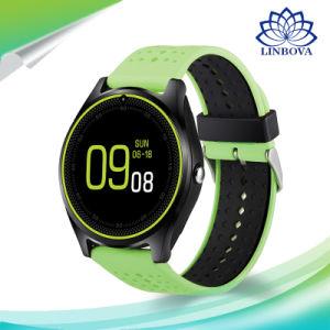 Reloj inteligente V9 con Bluetooth Cámara de la Salud el deporte horas reloj de pulsera de la tarjeta SIM Smartwatch