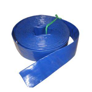 Manguito plano puesto PVC de la descarga del agua del manguito para la agricultura