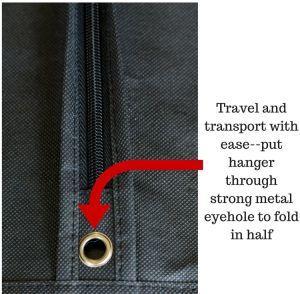 贅沢なコンバーチブルは黒いNon-Woven服スーツカバー衣装袋をファスナーを絞める