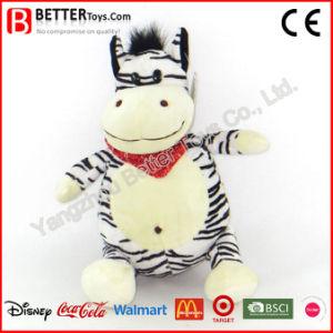 Giocattoli molli della zebra della peluche dell'animale farcito dell'abbraccio per i capretti/bambini del bambino