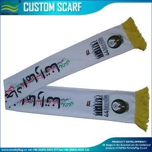 실크 Satin/100% 아크릴 뜨개질을 했거나 스판덱스에 의하여 뜨개질을 하는 아랍 에미리트 연방 국제적인 스카프 (B-NF19F06011)