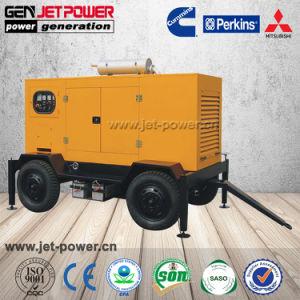 トレーラーが付いている移動式発電機30kVA 40kVA 50kVAの無声ディーゼル発電機