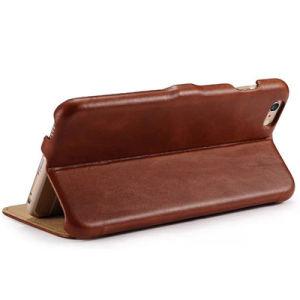 사업 포도 수확 iPhone 7을%s 실제적인 가죽 손가락으로 튀김 전화 상자