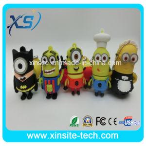 Дешевые рекламных желтый приспешников ПВХ флэш-накопитель USB (XST-UZ007)