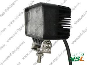 Lampe automobile de travail d'EMC 18W 6LED DEL, lumière rectangulaire du faisceau DEL d'inondation, piloter tous terrains rond de lampe de DEL