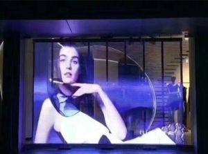 Fenêtre P7.81mm del transparente Affichage plein écran LED en verre de couleur
