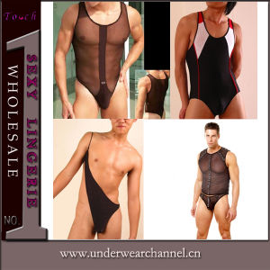 Commerce de gros Romper transparente Teddy Body Lingerie Lingerie sexy des hommes (CT2235)