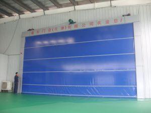 Portello veloce ad alta velocità di rotolamento della stanza pulita del PVC di riparazione di auto