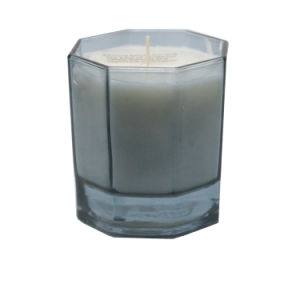 Spray perfumada de alta qualidade jarra de vidro Octagon Vela para decoração