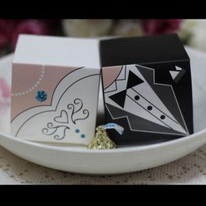 Boîte de bonbons pour mariage élégant sac cadeau Sweet faveurs de mariage pour les clients Mariée Le Marié robes de mariage Décoration parti