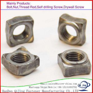 DIN928 사각 용접 Nuts 탄소 강철 M2-M64