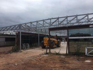 Prefabricados de estructura de acero galvanizado la construcción de casas/845