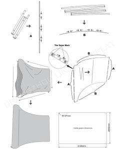 Ткань Exhibtion Плакатные стойки всплывающий экран (LT-24)