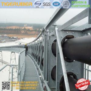 Резиновый трубчатый трубопровода системы конвейера конвейер резиновый ремень нейлоновый резиновые ленты транспортера