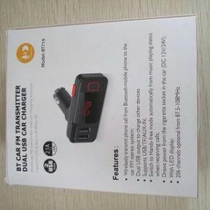 Port USB double 2.1A véhicule Voiture Lecteur MP3 transmetteur FM sans fil avec fonction de recharge de voiture en charge USB Micro SD Aux-in