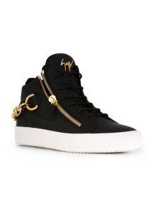 La decoración de la cadena de metal Zipper Designer los zapatos de cuero para hombres (AKPX11).