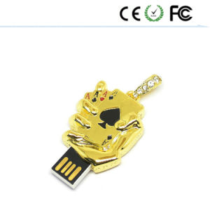 Золотой Покер карты U диск USB флэш-накопитель 4 ГБ - 8ГБ-16ГБ-32ГБ диск