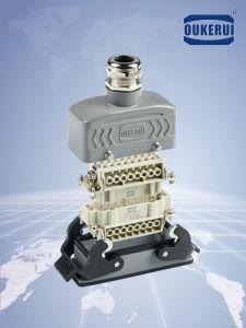 Hzw彼6/10/16/24/32/48はPin 500V 16Aのねじ込み端子の頑丈なコネクターHartingを取り替える